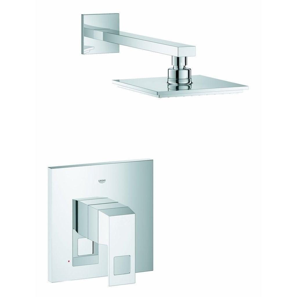 Shop Grohe Eurocube Starlight Chrome Shower Faucet Overstock 10586119