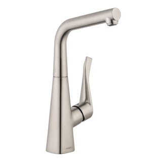 HansGrohe Metris Steel Optik Bar Kitchen Faucet