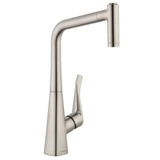 hansgrohe metris higharc 2spray steel optik kitchen faucet - Hansgrohe Faucets