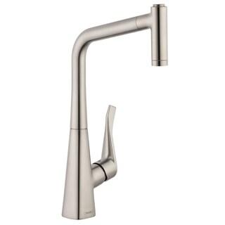 HansGrohe Metris HighArc 2-spray Steel Optik Kitchen Faucet