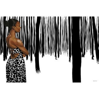 Maxwell Dickson 'Girl In the Forest' Modern Canvas Wall Art