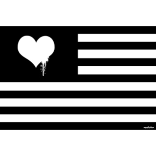 Maxwell Dickson 'Love Flag' Modern Canvas Wall Art