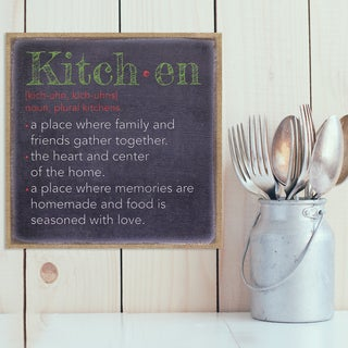 Stratton Home Decor 'Kitchen' Burlap Wall Art