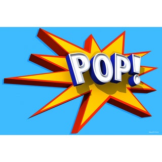 Maxwell Dickson 'POP 3D' Modern Canvas Wall Art
