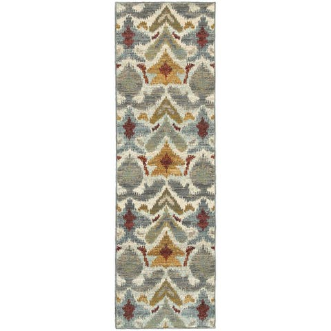 "Porch & Den Hunt Ivory Tribal Runner Rug - 2'3"" x 7'6"" Runner"