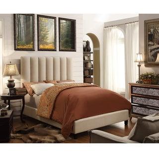 Moser Bay Furniture Isabel Beige Upholstery Platform Bed