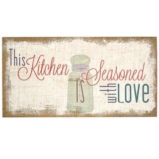 Stratton Home Decor 'Seasoned with Love' Typography Burlap Art