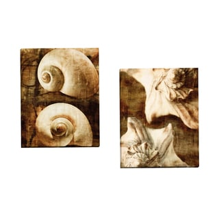 Portfolio Canvas Decor 'Seaside Portrait I' by Thea Schrack Gallery Wrapped Canvas (Set of 2)