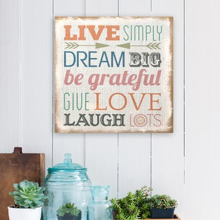 Stratton Home Decor 'Love Simply' Typography Burlap Art