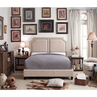 Moser Bay Furniture Sanibel Beige Upholstery Platform Bed