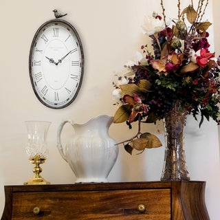 Link to Stratton Home Decor Antique Oval Clock Similar Items in Decorative Accessories