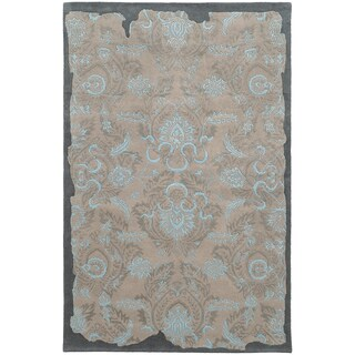 PANTONE UNIVERSE Color Influence Eroded Oriental Grey/ Blue Rug (2'6 x 8')