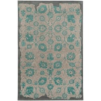 "PANTONE UNIVERSE Color Influence Eroded Oriental Green/ Grey Rug (2'6 x 8') - 2'6"" x 8'"