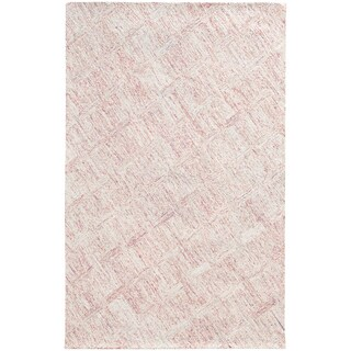 PANTONE UNIVERSE Colorscape Loop Pile Faded Diamond Pink/ Beige Rug (2'6 x 8')