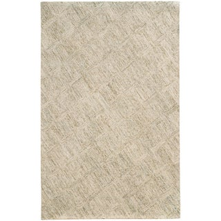 PANTONE UNIVERSE Colorscape Loop Pile Faded Diamond Beige/ Stone Rug (2'6 x 8')