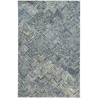 PANTONE UNIVERSE Colorscape Loop Pile Faded Diamond Charcoal/ Beige Rug (2'6 x 8')