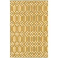 StyleHaven Lattice Gold/Ivory Indoor-Outdoor Area Rug - 10' x 13'