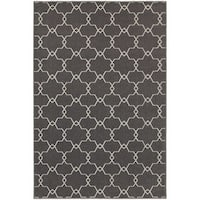 StyleHaven Geometric Trellis Grey/Ivory Indoor-Outdoor Area Rug - 10' x 13'