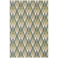 """StyleHaven Chevron Ivory/Grey Indoor-Outdoor Area Rug (9'10x12'10) - 9'10"""" X 12'10"""""""