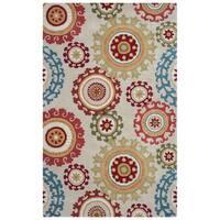 Arden Loft Hand-tufted Beige MedallionsCrown Way Collection Wool Area Rug (9' x 12')