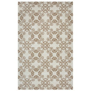Arden Loft Hand-tufted Natural Tree Crown Way Collection Wool Area Rug (5' x 8')