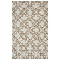 Arden Loft Hand-tufted Natural ScrollCrown Way Collection Wool Area Rug (2'6 x 8')