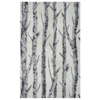 Arden Loft Hand-tufted Natural Paint Splatter Crown Way Collection Wool Area Rug (5' x 8')