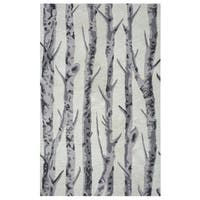 Arden Loft Hand-tufted Natural Paint SplatterCrown Way Collection Wool Area Rug (2'6 x 10')