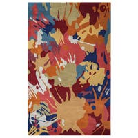 Arden Loft Hand-tufted Gold Paint SplatterCrown Way Collection Wool Area Rug - 8' x 10'