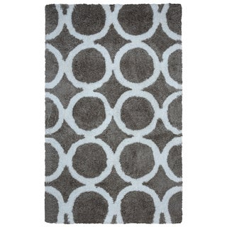 Arden Loft Hand-tufted Grey Geometric Danbury Crossing Collection Microfiber Area Rug (8' x 10')
