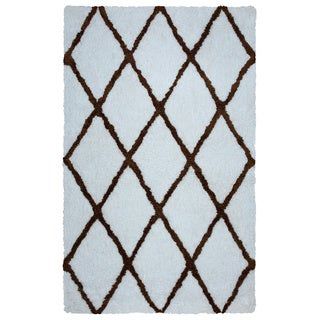 Arden Loft Hand-tufted Ivory Geometric Danbury Crossing Collection Microfiber Area Rug (5' x 8')