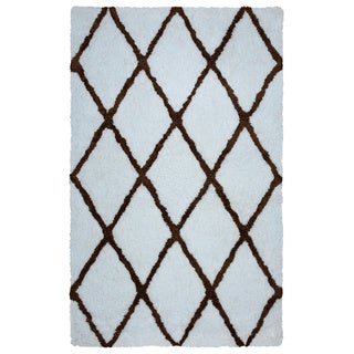 Arden Loft Hand-tufted Ivory Geometric Danbury Crossing Collection Microfiber Area Rug (8' x 10')