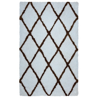 Arden Loft Hand-tufted Ivory Geometric Danbury Crossing Collection Microfiber Area Rug (2'6 x 10')
