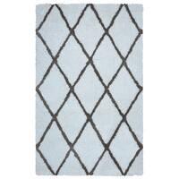 Arden Loft Hand-tufted Ivory Geometric Danbury Crossing Collection Microfiber Area Rug (8' x 10')