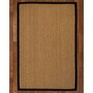 Four Seasons Black Seagrass Rug (9' x 12') with Bonus Rug Pad