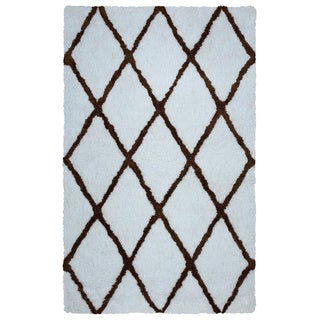Arden Loft Hand-tufted Ivory Geometric Danbury Crossing Collection Microfiber Area Rug (2'6 x 8')