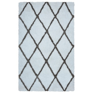 Arden Loft Hand-tufted Ivory Solid Danbury Crossing Collection Microfiber Area Rug (9' x 12')