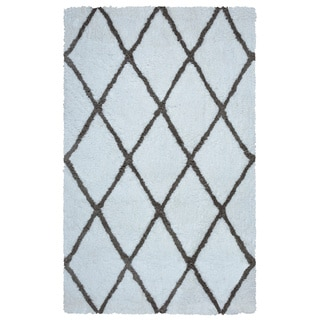Arden Loft Hand-tufted Ivory Solid Danbury Crossing Collection Microfiber Area Rug (2'6 x 10')