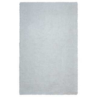 Arden Loft Hand-tufted Ivory Solid Danbury Crossing Collection Microfiber Area Rug (5' x 8')
