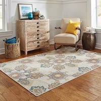 StyleHaven Floral Ivory/Grey Indoor-Outdoor Area Rug - 8' x 10'