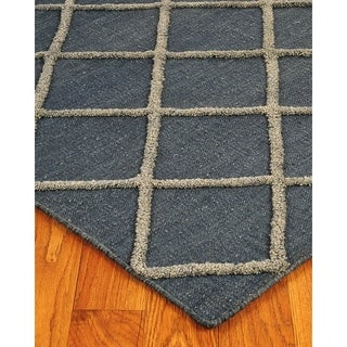 Hand Woven City Retreat Moroccan Wool 9' x 12' Rug with Bonus Rug Pad