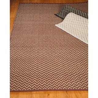 Hand Woven Ruby Seagrass Rug (8' x 10') with Bonus Rug Pad
