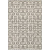 StyleHaven Distressed Leaves Grey/Ivory Indoor-Outdoor Area Rug - 8' x 10'