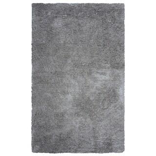 Arden Loft Hand-tufted Grey Geometric  Danbury Crossing Collection Microfiber Area Rug (5' x 8')