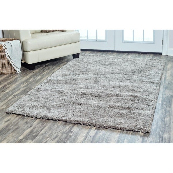 Arden Loft Hand-tufted Grey Solid  Danbury Crossing Collection Microfiber Area Rug (8' x 10')