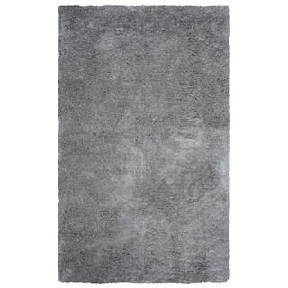 Arden Loft Hand-tufted Grey Solid Danbury Crossing Collection Microfiber Area Rug (8' x 10')