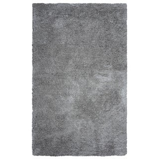 Arden Loft Hand-tufted Grey Geometric Danbury Crossing Collection Microfiber Area Rug (9' x 12')