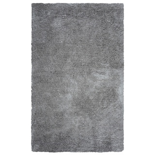 Arden Loft Hand-tufted Grey Solid Danbury Crossing Collection Microfiber Area Rug (2'6 x 8')