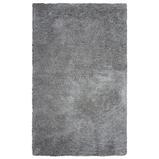 Arden Loft Hand-tufted Grey Geometric Danbury Crossing Collection Microfiber Area Rug (2'6 x 10')