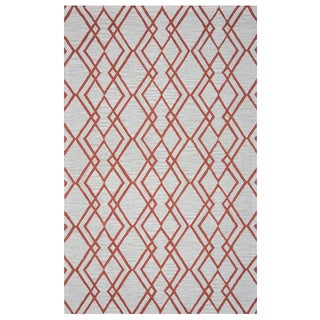 Arden Loft Hand-tufted Natural Geometric Easley Meadow Collection Wool Area Rug (5' x 8')